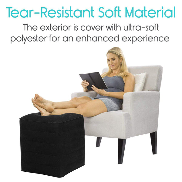Inflatable Leg Or Foot Rest Portable For Travel Vive