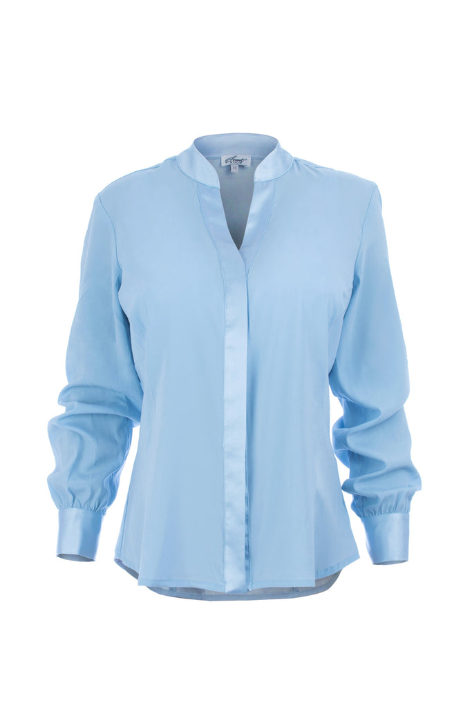 On the drawing board: essential silk utility blouse
