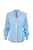 Baby blue essential silk utility blouse