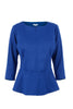 Royal blue peplum top