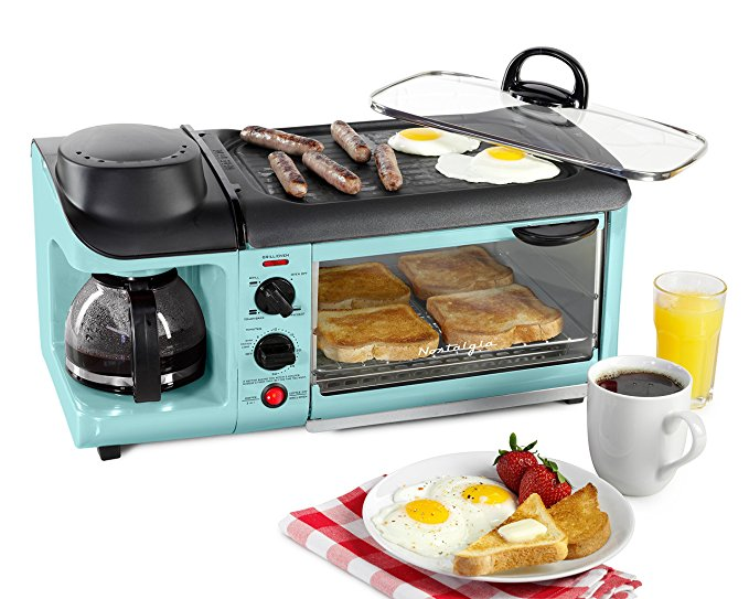 Turquoise Aqua Coffee Maker Toaster and Stove Top is great for college dorms
