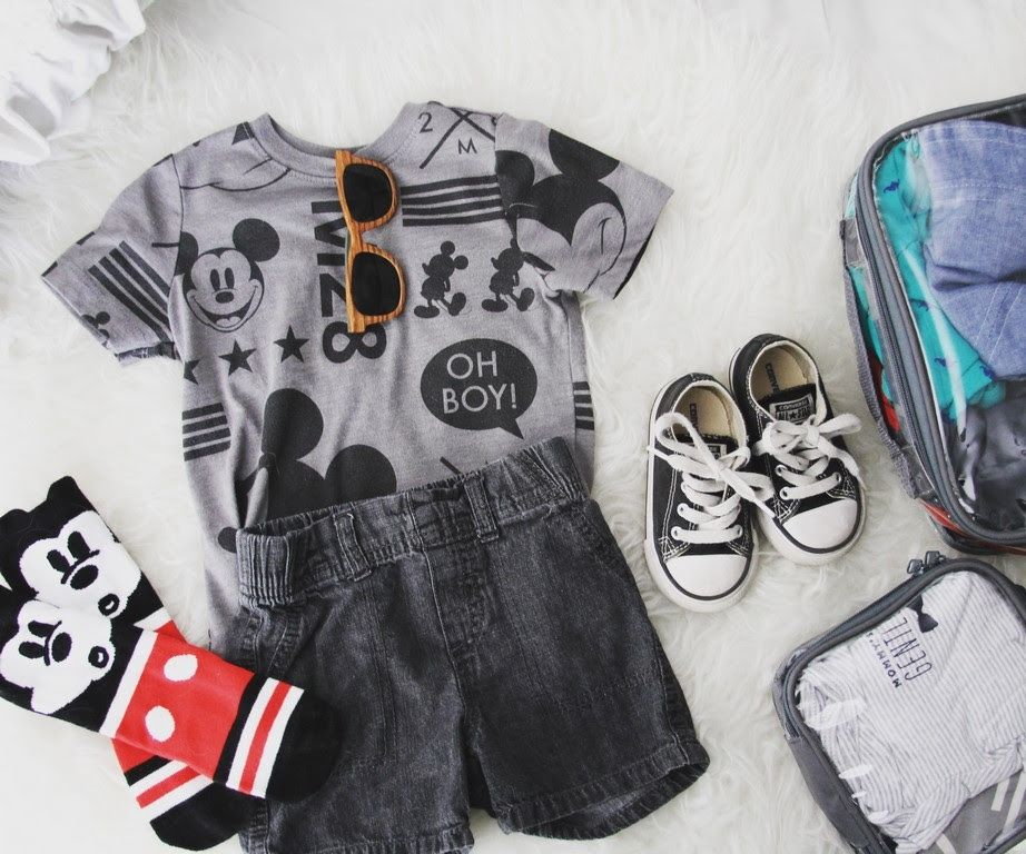 Baby's clothes and packing cubes
