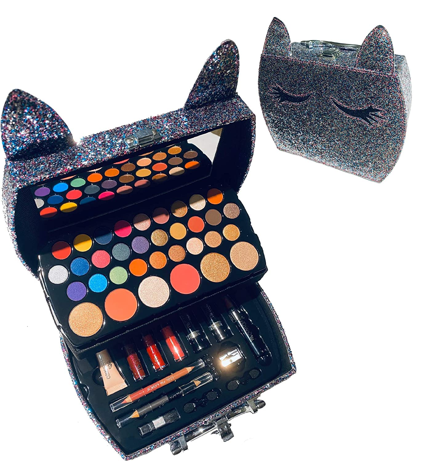 BR carry all trunk train makeup case with cat ears