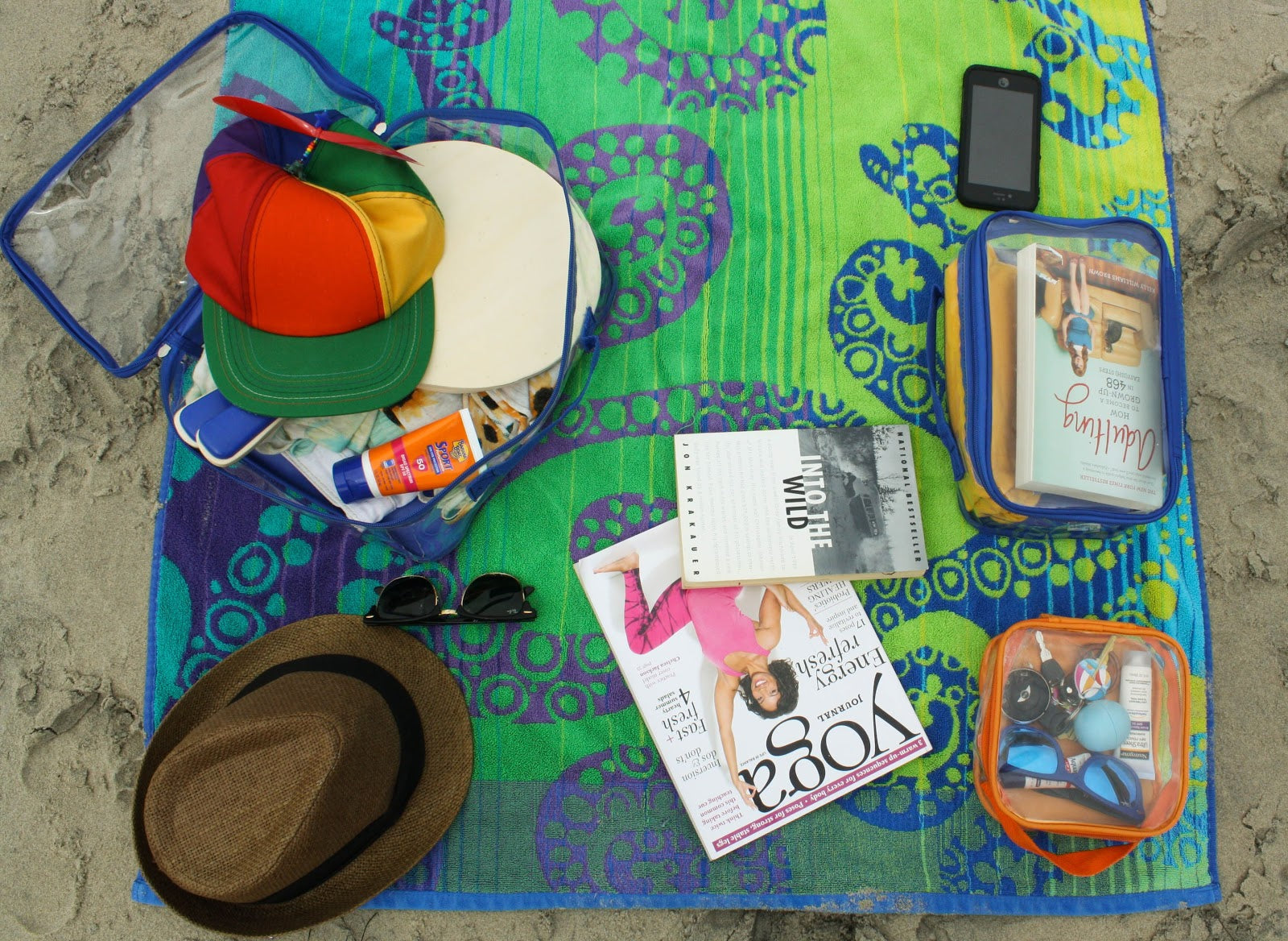 Pack a beach kit for travel tip