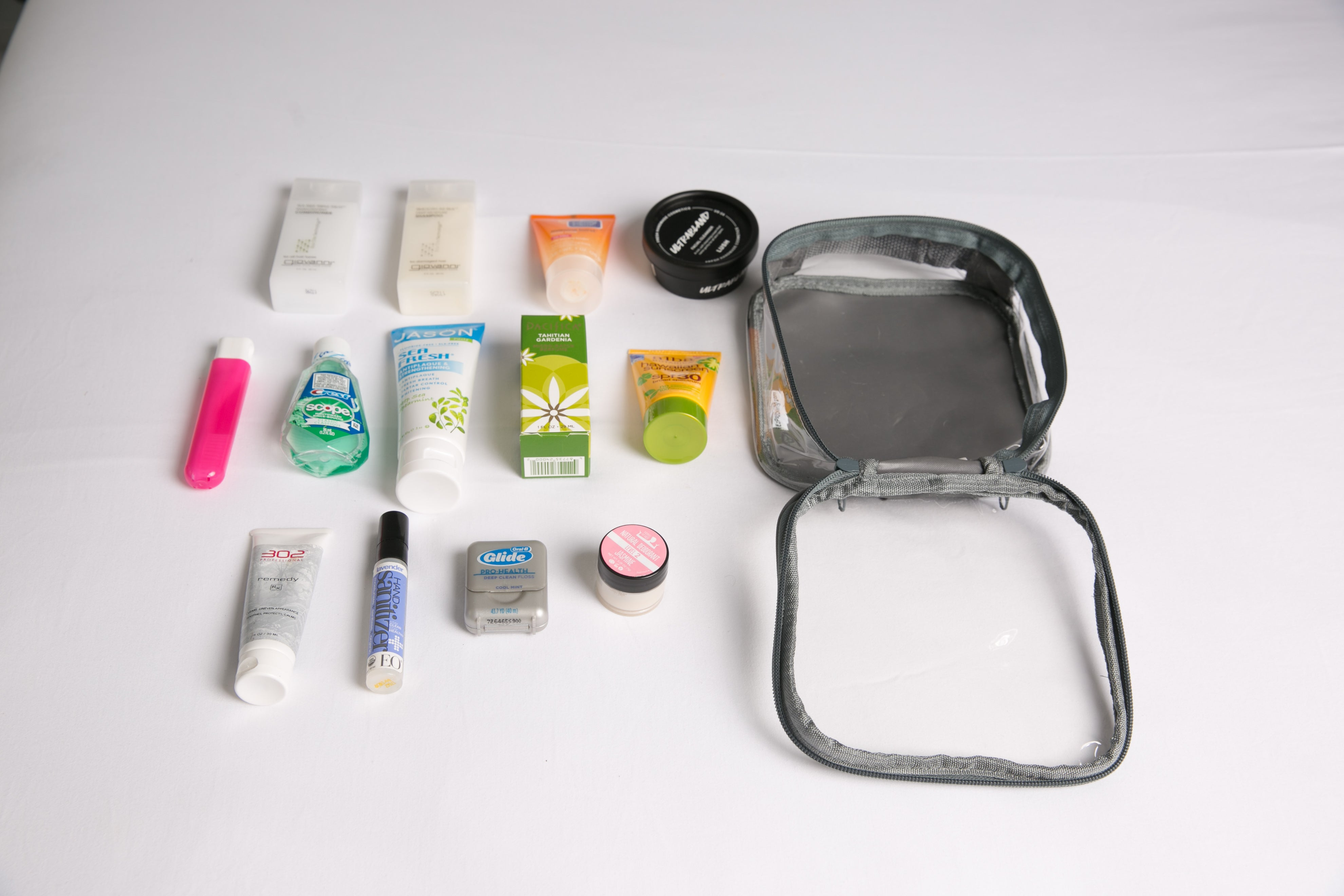 Quart Size Bag for packing camping toiletries