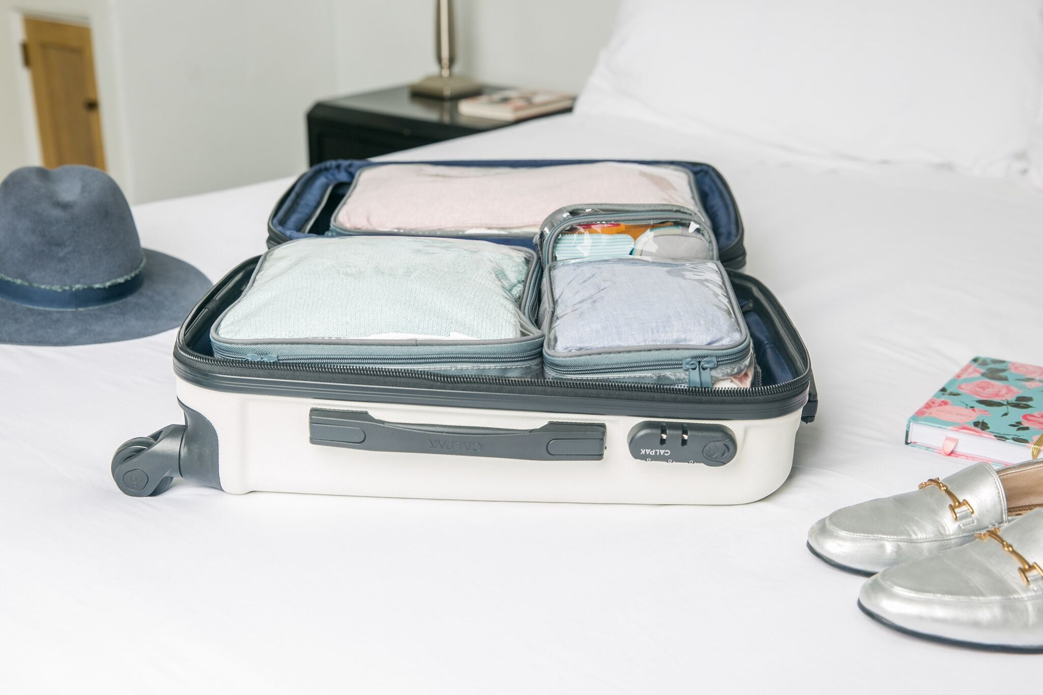 Clear packing cubes for cruise ship tips