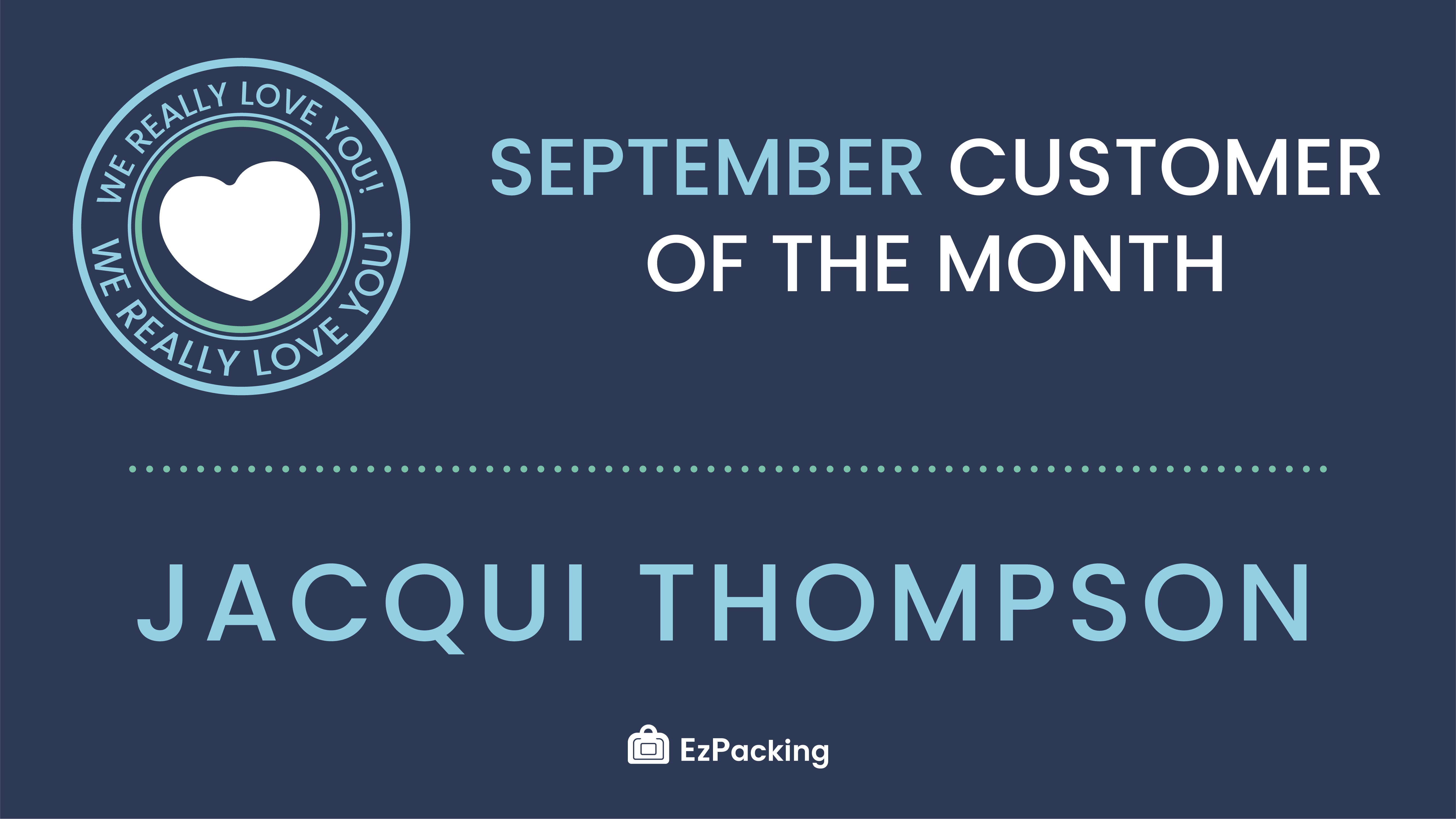 September Customer of the Month