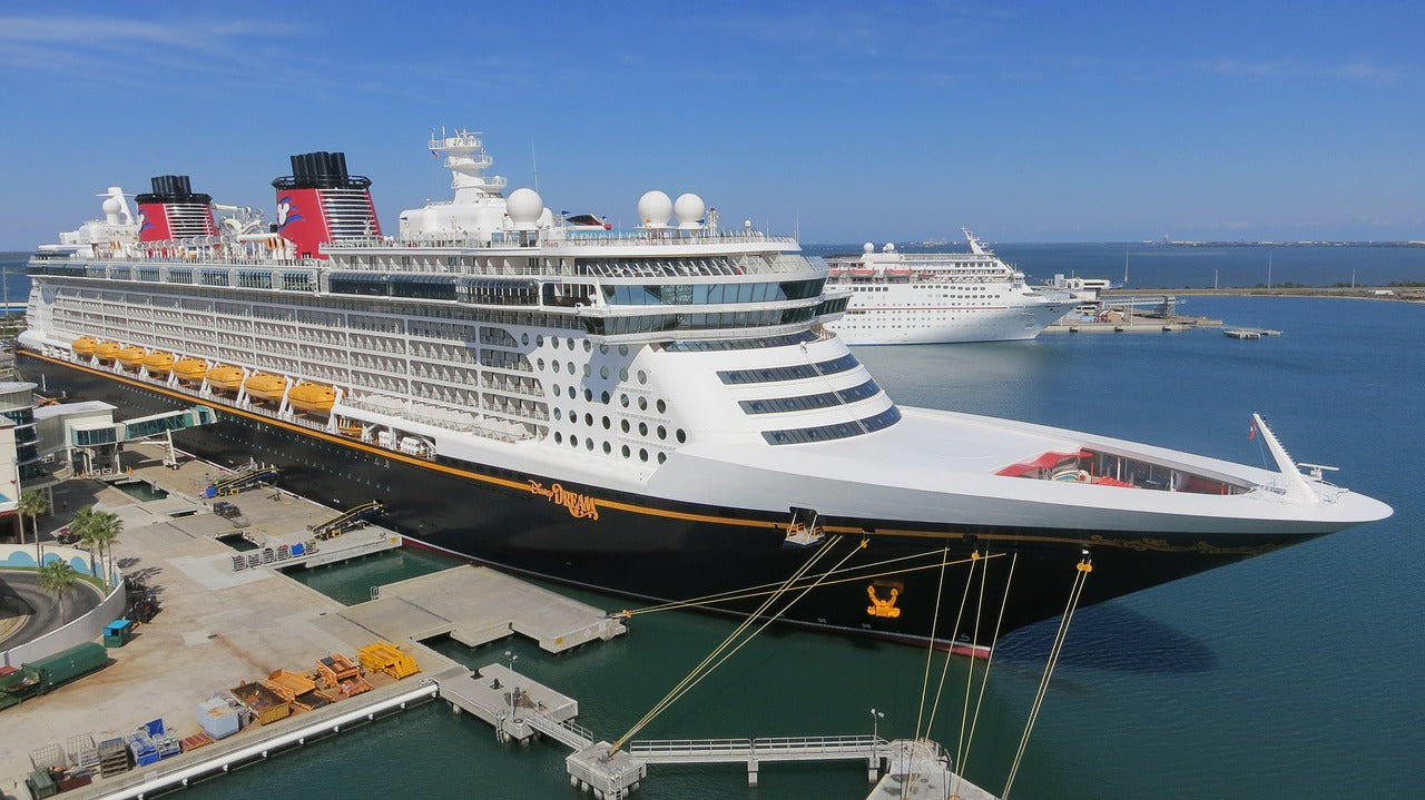 Disney cruise ship on port