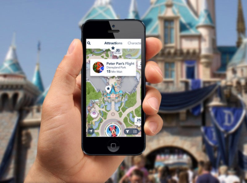 Disneyland vacation planning must-download apps on smartphone