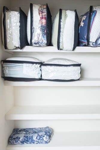 Extra large packing cubes used for storing bulky beddings