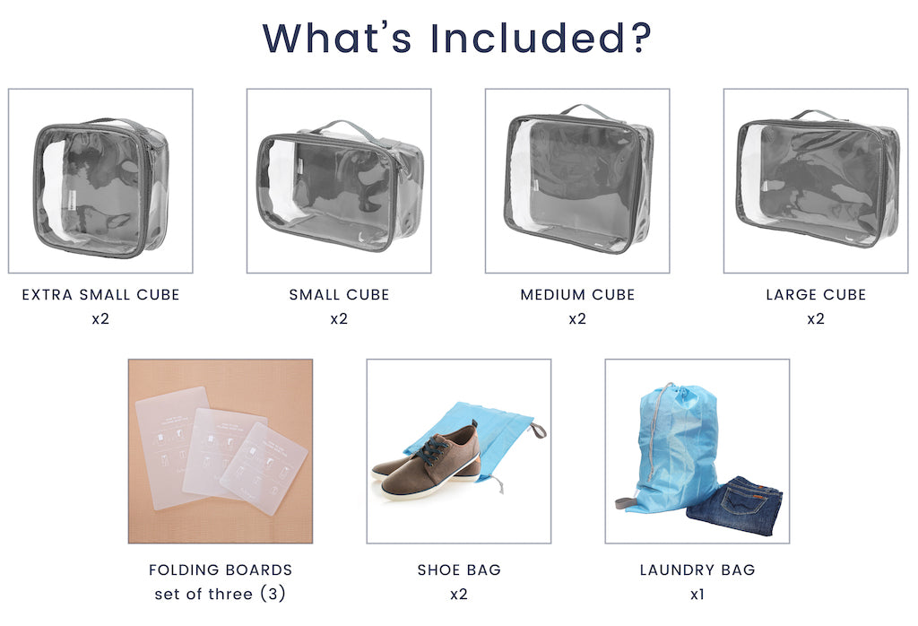 EzPacking's the Complete Bundle packing cube set