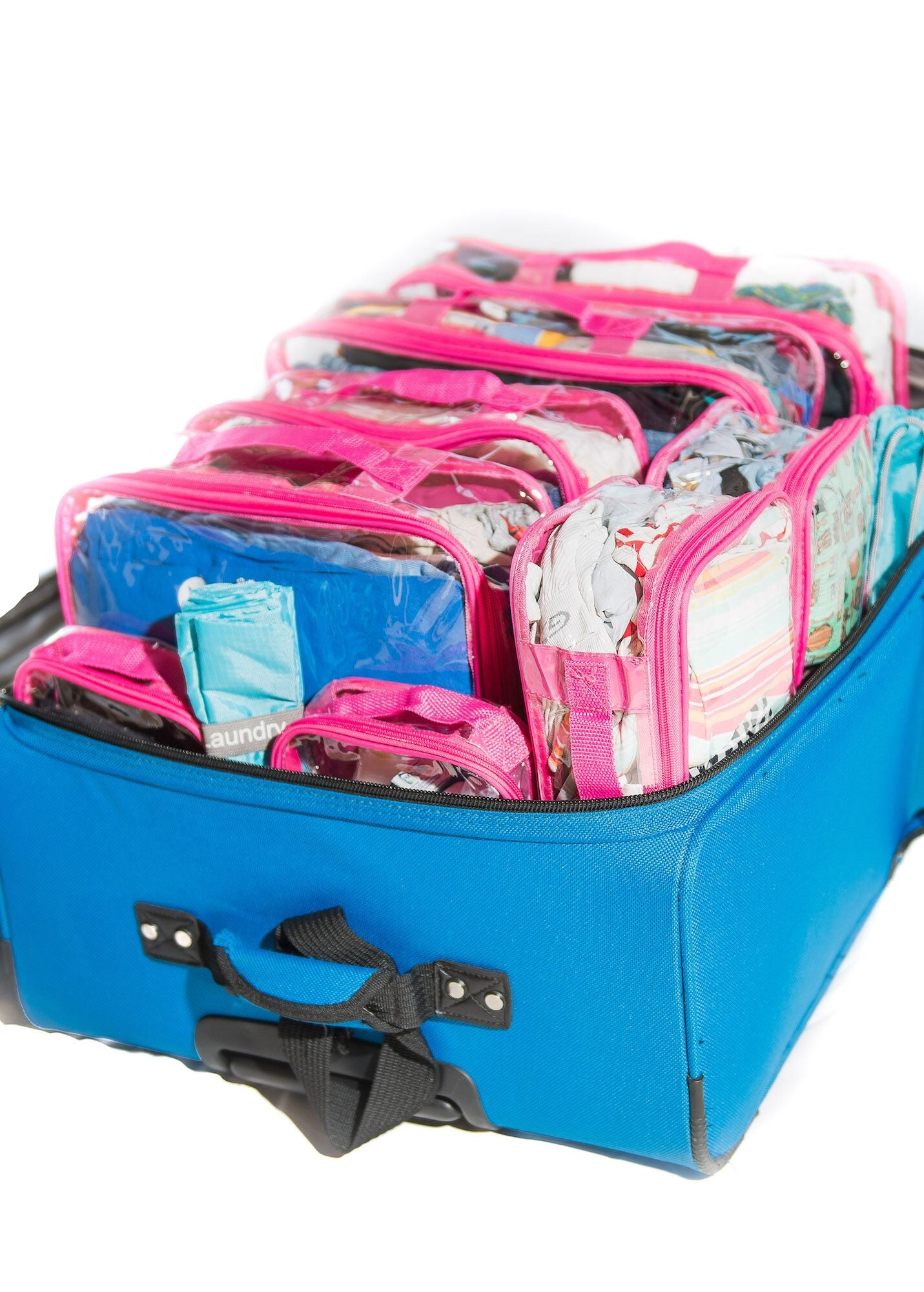 Luggage organizer set in pink