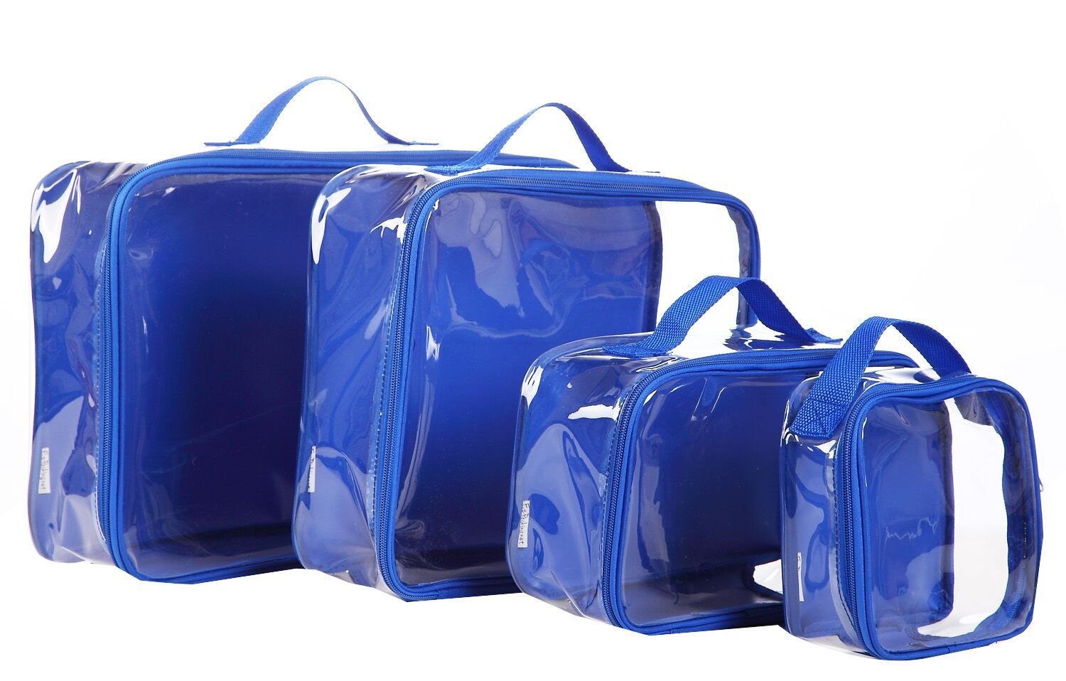 Packing cube set in royal blue