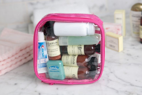 Keep your toiletries in a separate packing cube to avoid spills