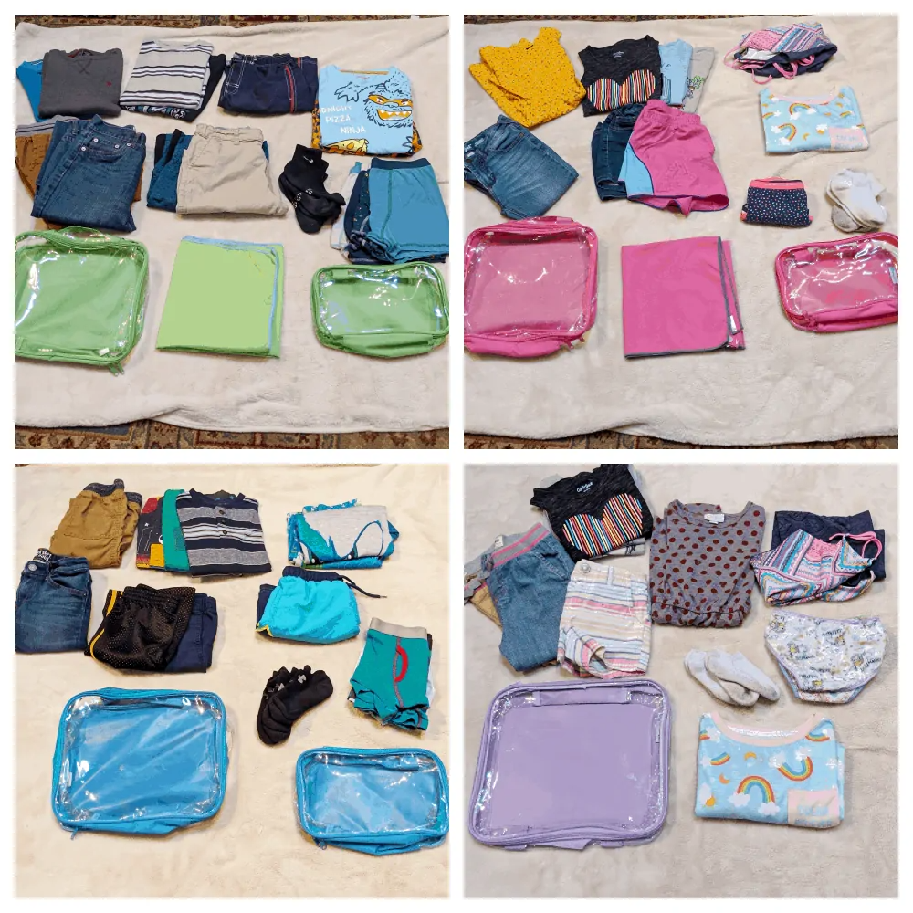 Medium and small cube in different colors for kids' travel essentials