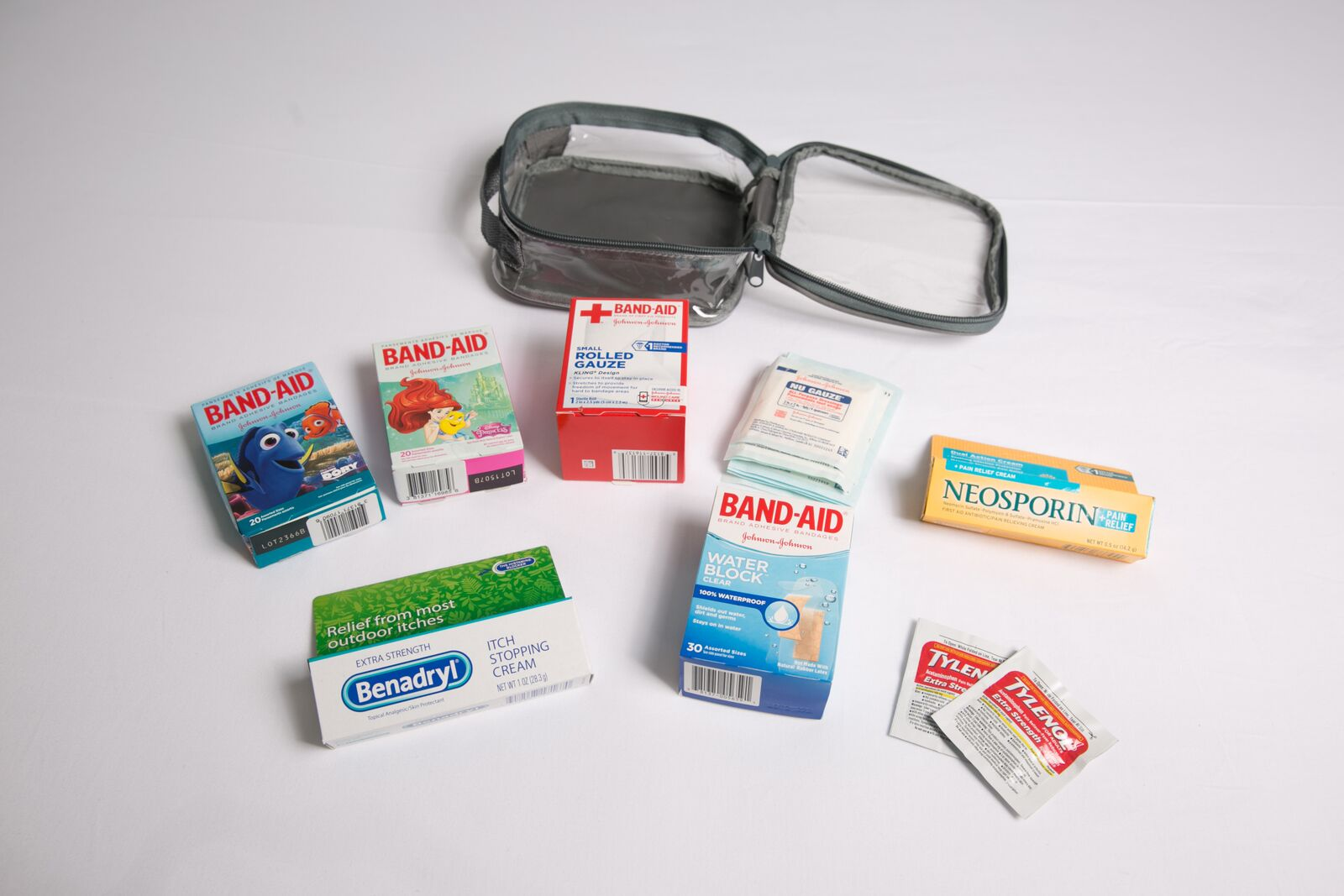 First aid kit for tropical vacation packing list