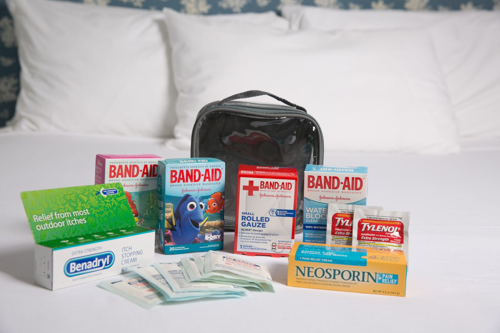 First aid kit for summer trip