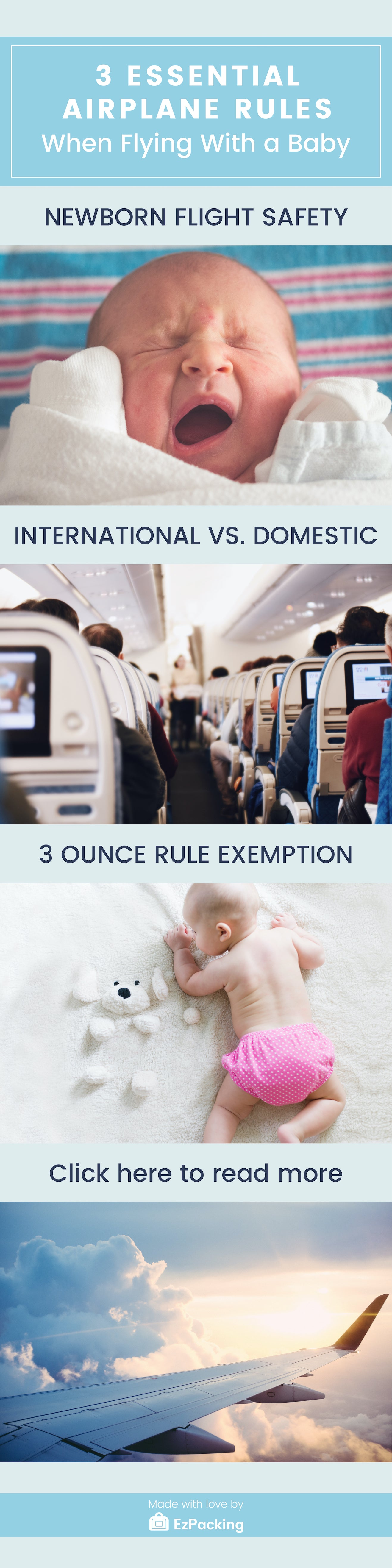 Flying with newborn tips