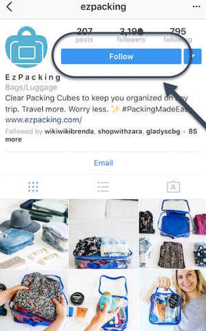 Follow EzPacking on Instagram