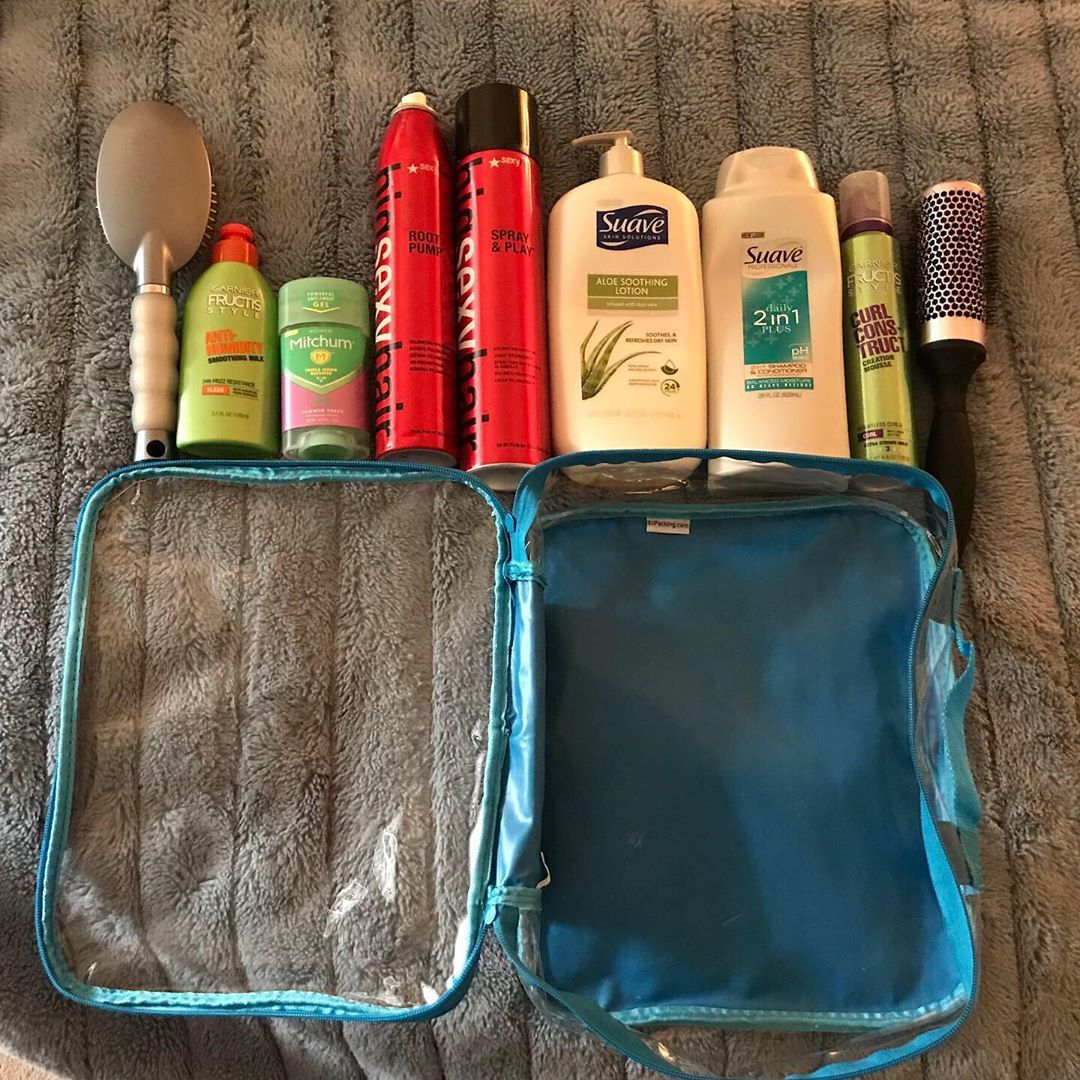 Full size hair product containers and a medium cube