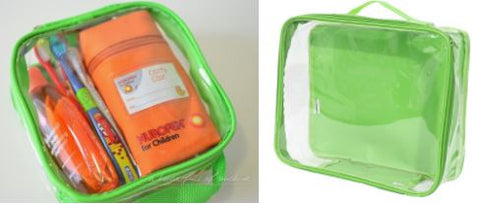 Green Small Travel Cubes From EzPacking With Toothbrush And Medicine For Kids