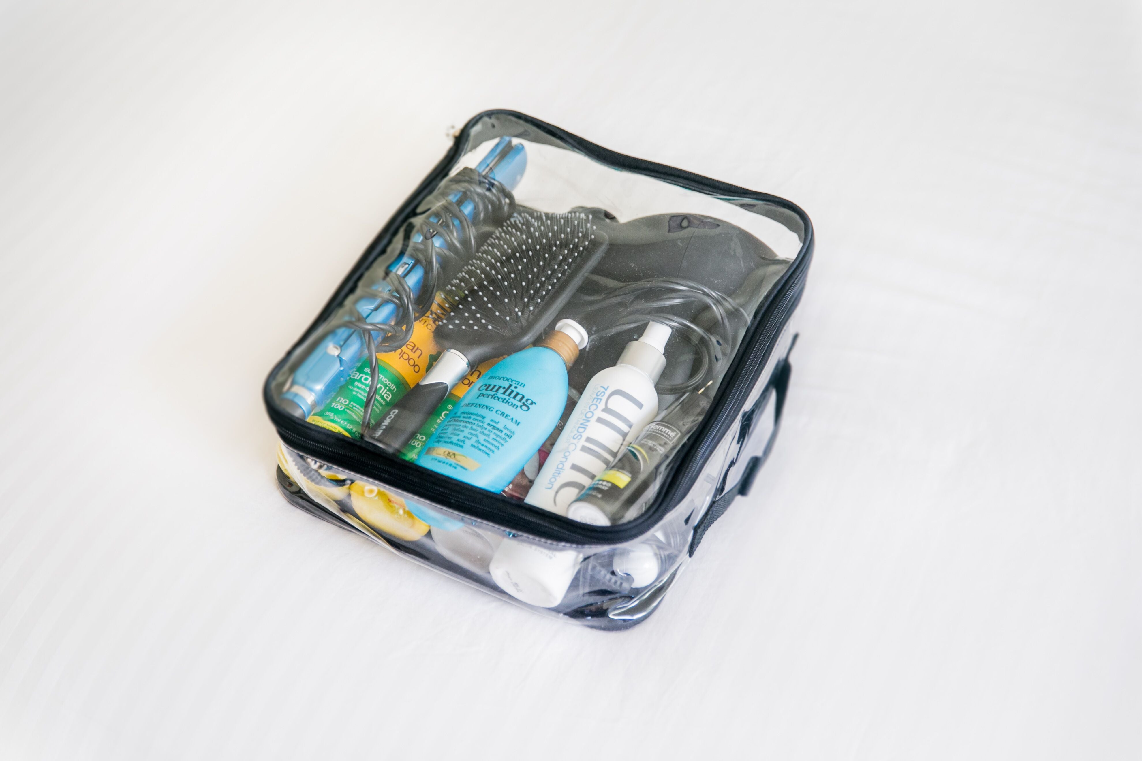 Hair tools and products for travel