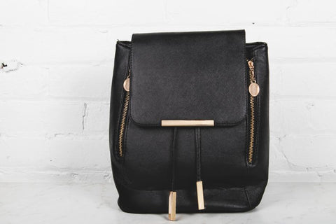 Black Fashionable Backpack You Can Hang On Closet