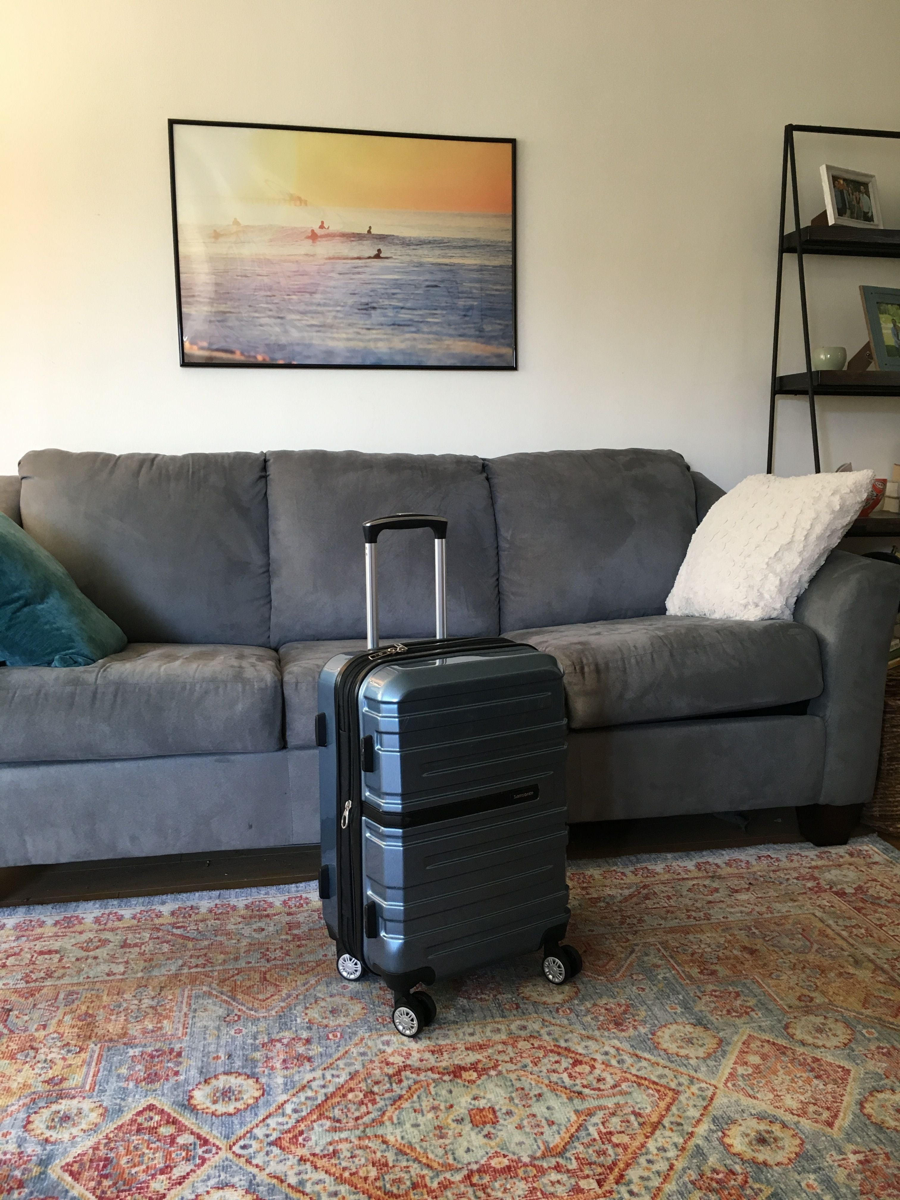 Hard-shell suitcase for travel