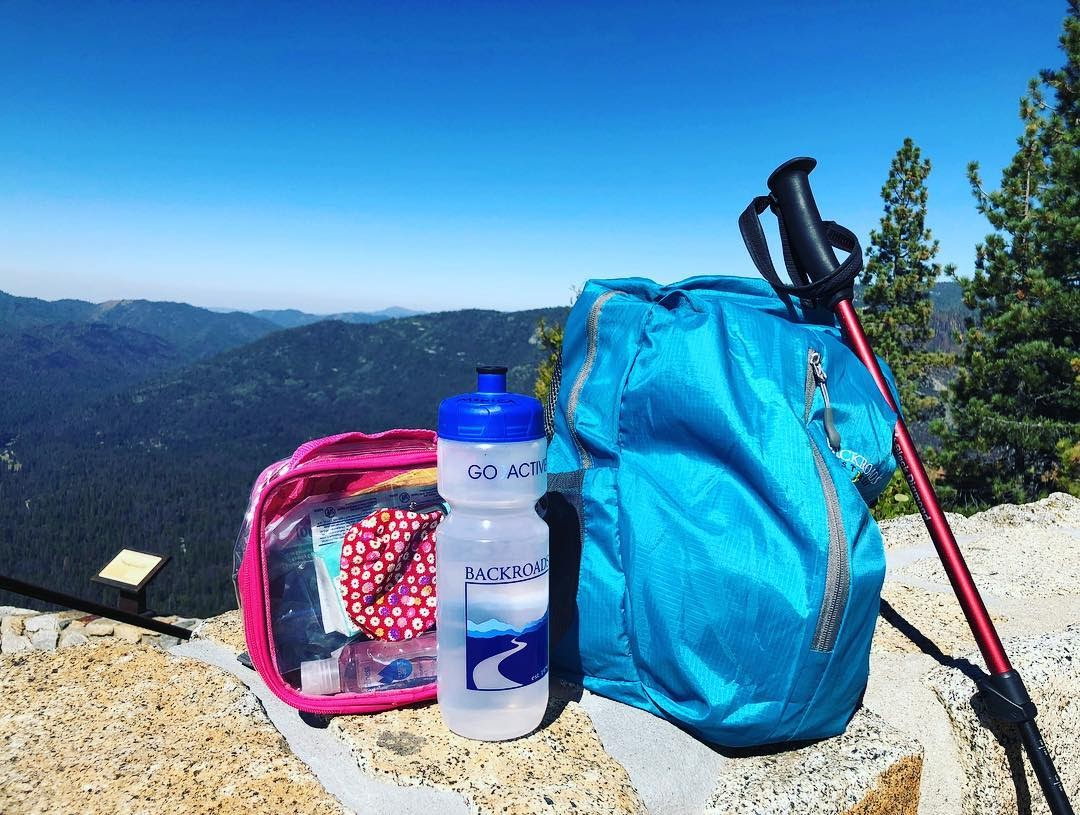 Pack a hiking kit for travel tip
