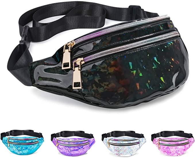 Holographic bum bag for travel