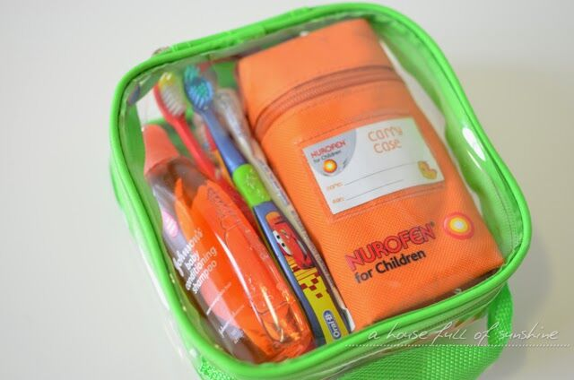 Clear toiletries pouch