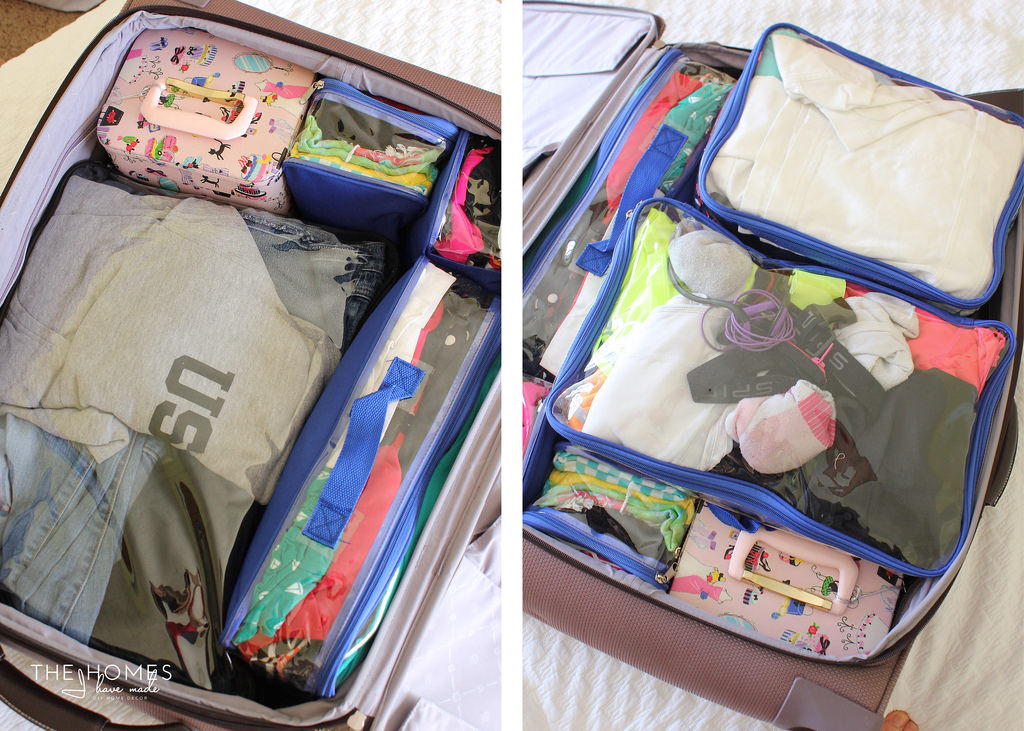 How to fit packing cubes inside suitcase