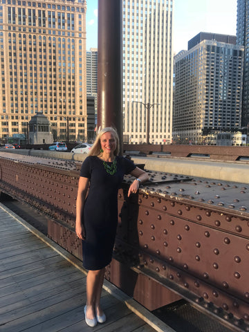 Jenna Braddock on a business trip to Chicago