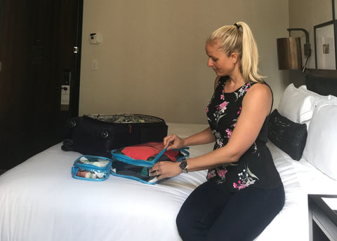Jenna Braddock loving the efficiency of EzPacking on one of her many business trips!