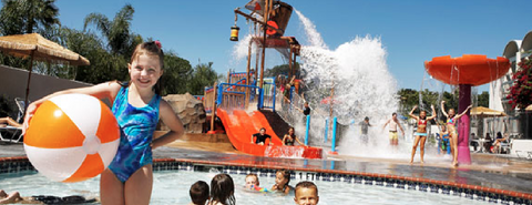 The Howard Johnson Anaheim Hotel and Water Playground, a budget hotel near Disneyland