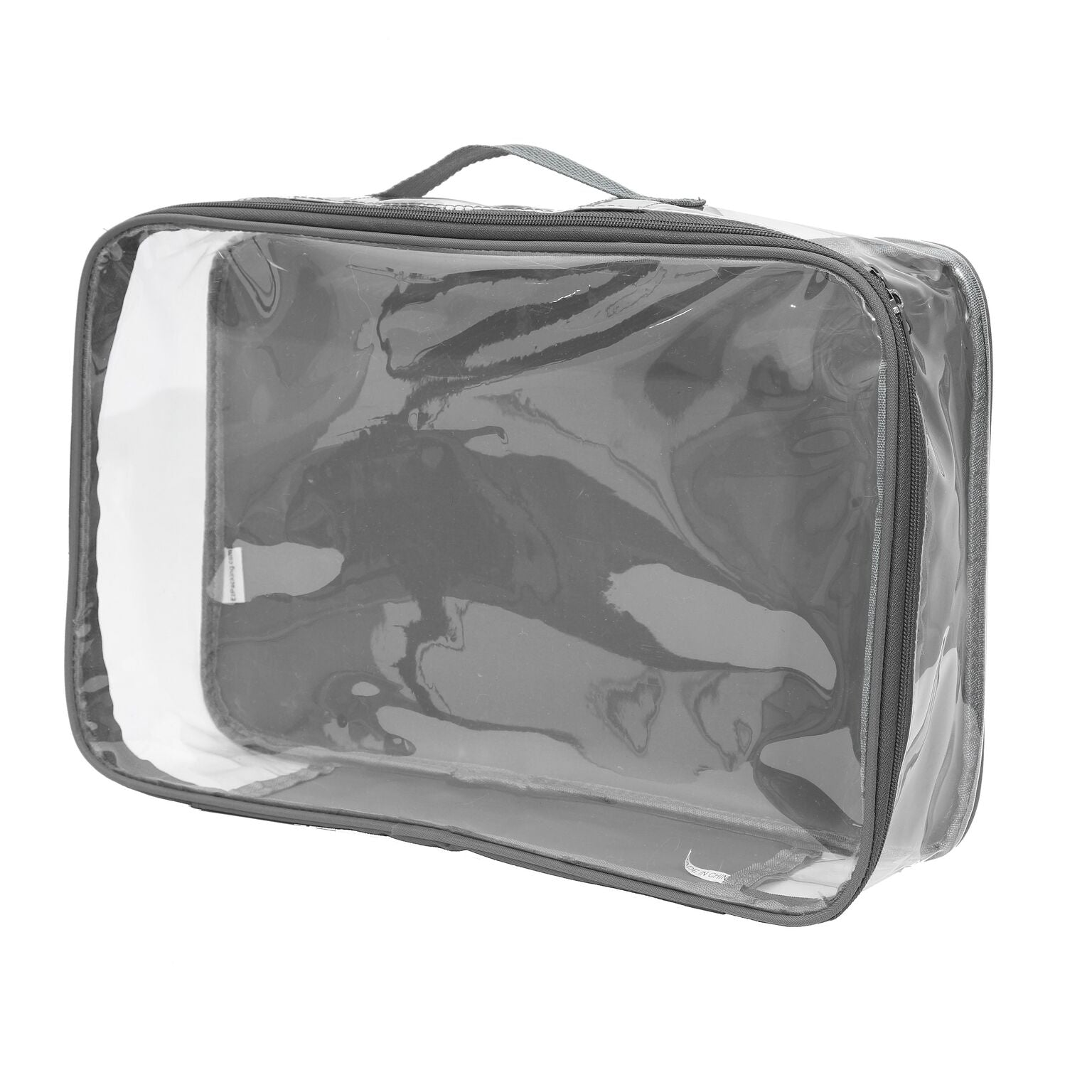 Large travel cube in gray