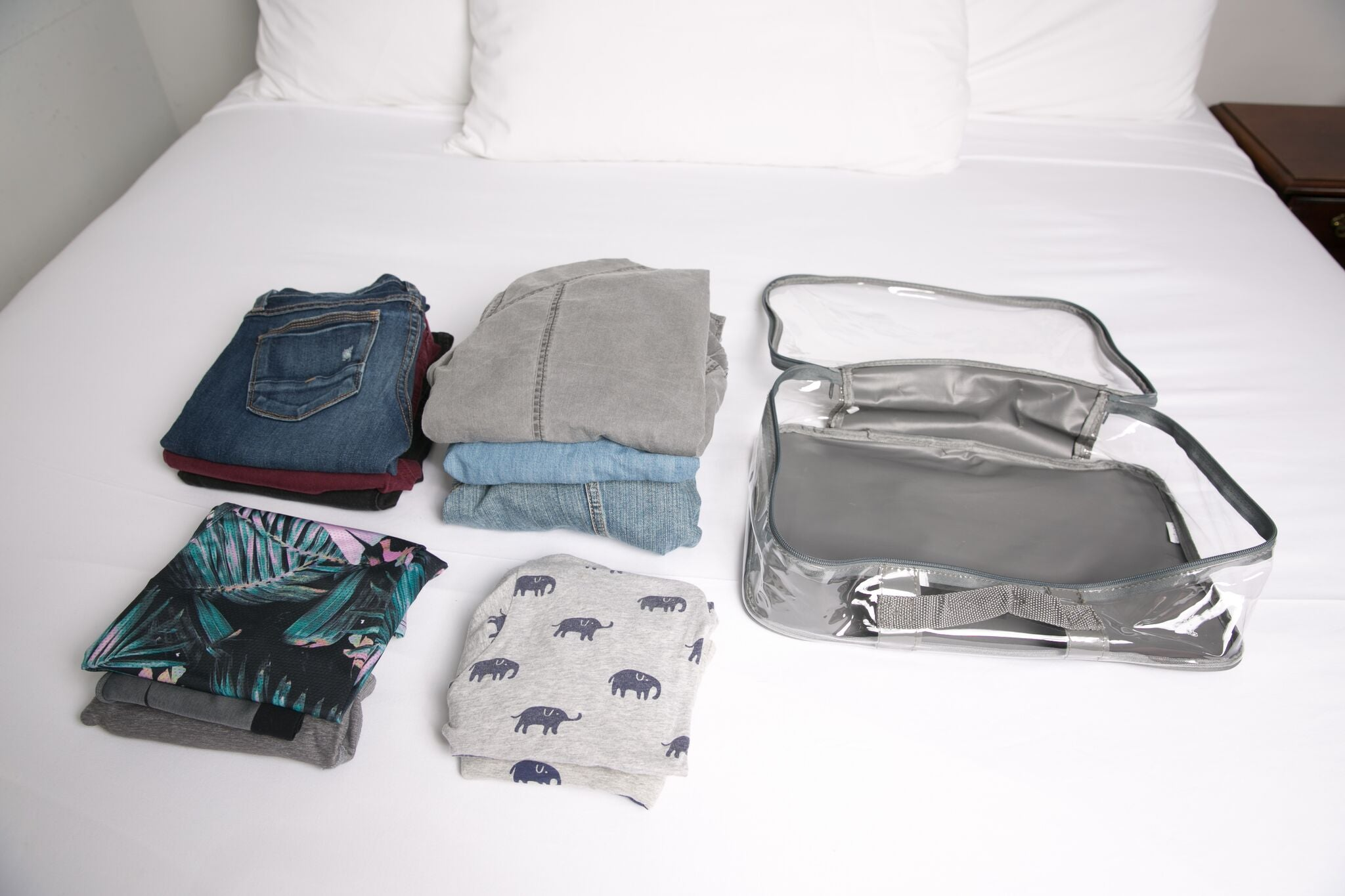 Bulky clothes to be packed in large cube