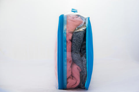 Spare blanket for air travel in blue EzPacking cube