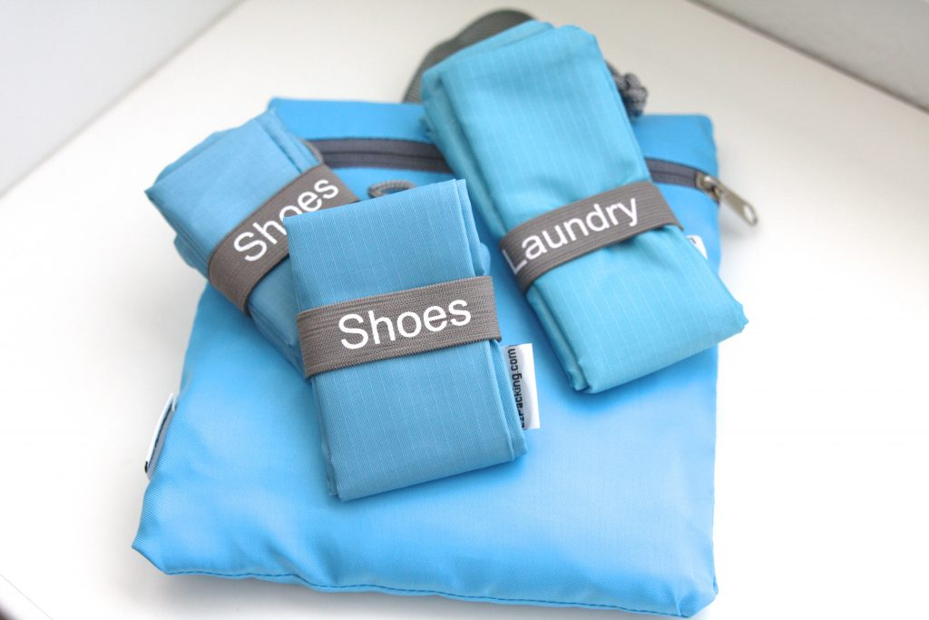 Shoe and laundry bags for travel