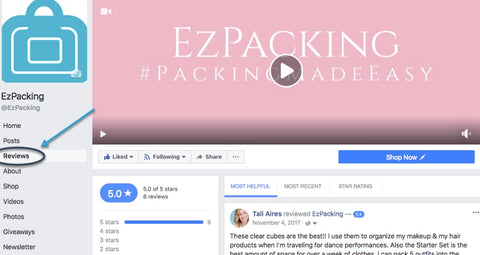 How to Become Customer of the Month EzPacking Facebook Review