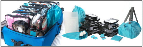 EzPacking cubes and duffle bag for an organized missionary trip