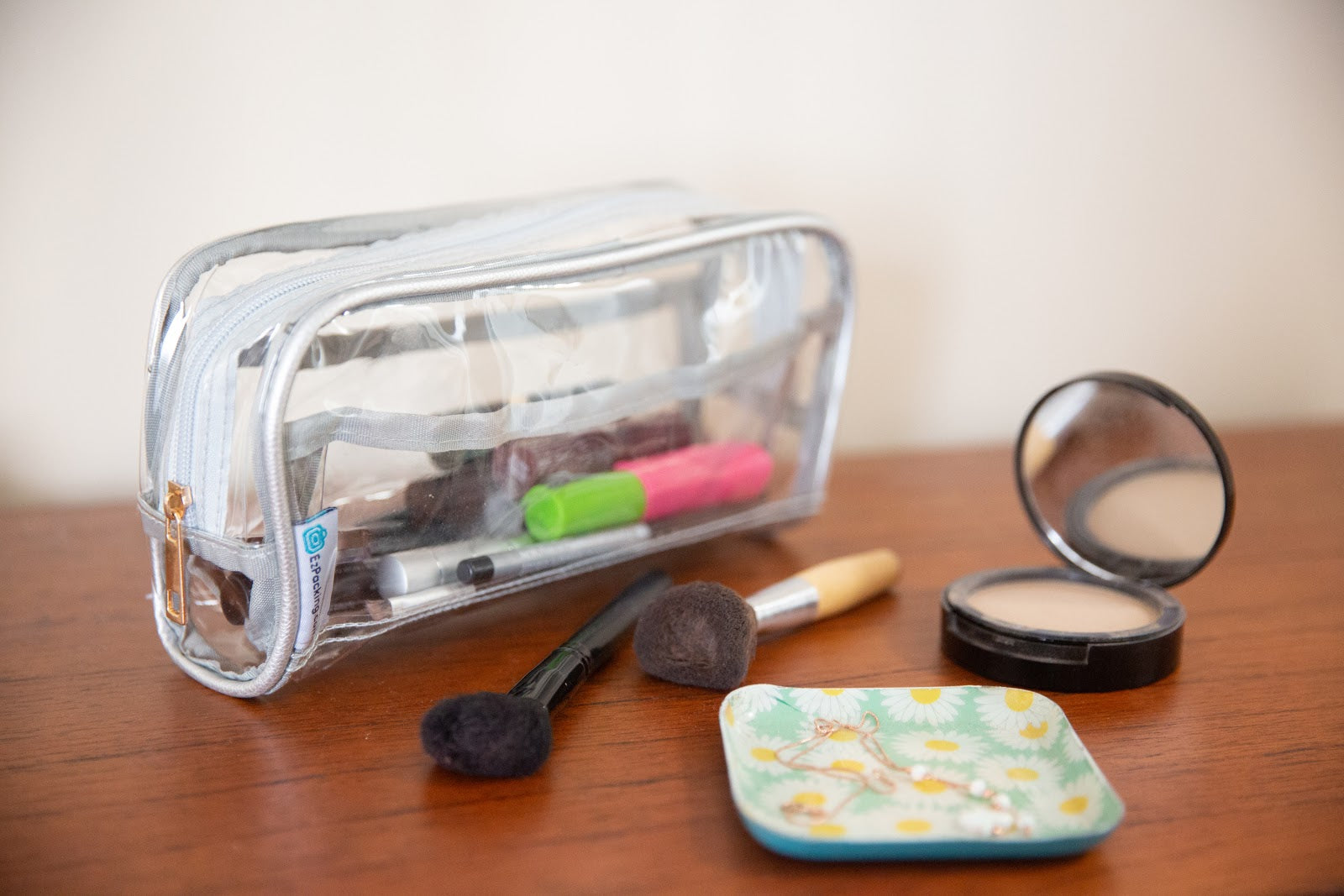 Makeup for what to pack in your toiletry bag