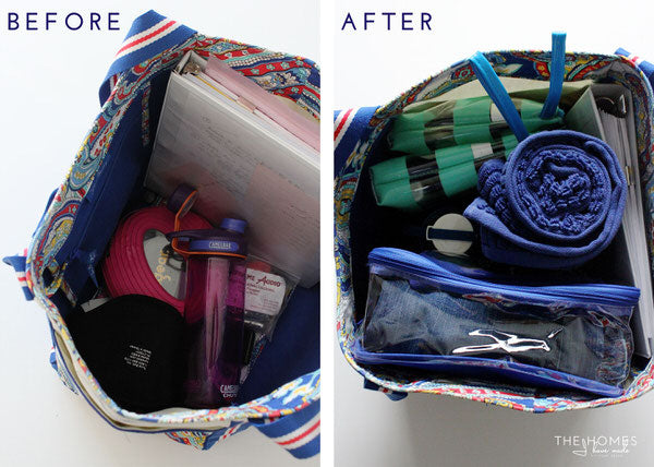 Packing cube as gym pouch tote