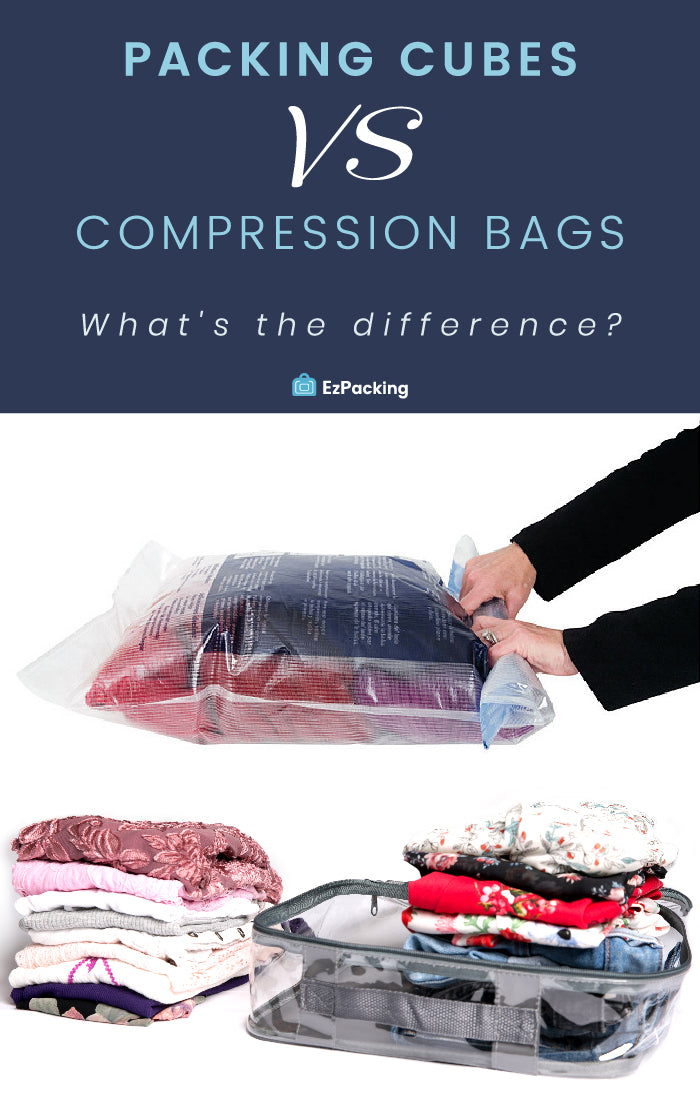 Packing cubes vs compression bags
