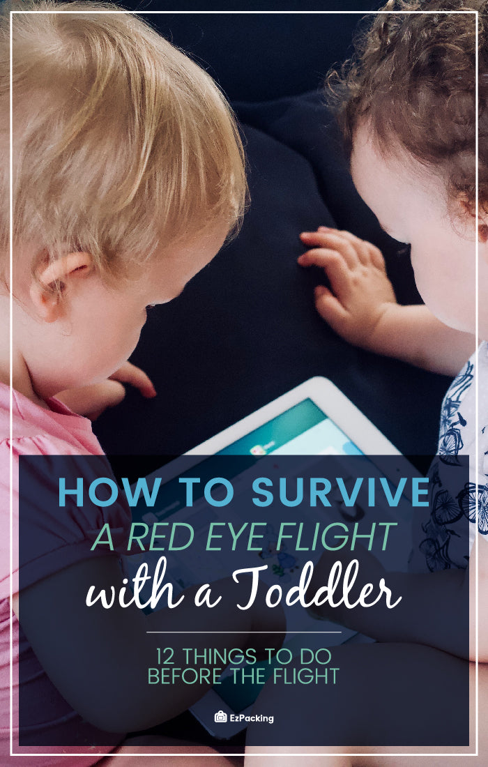 Red-eye flight with toddler tips
