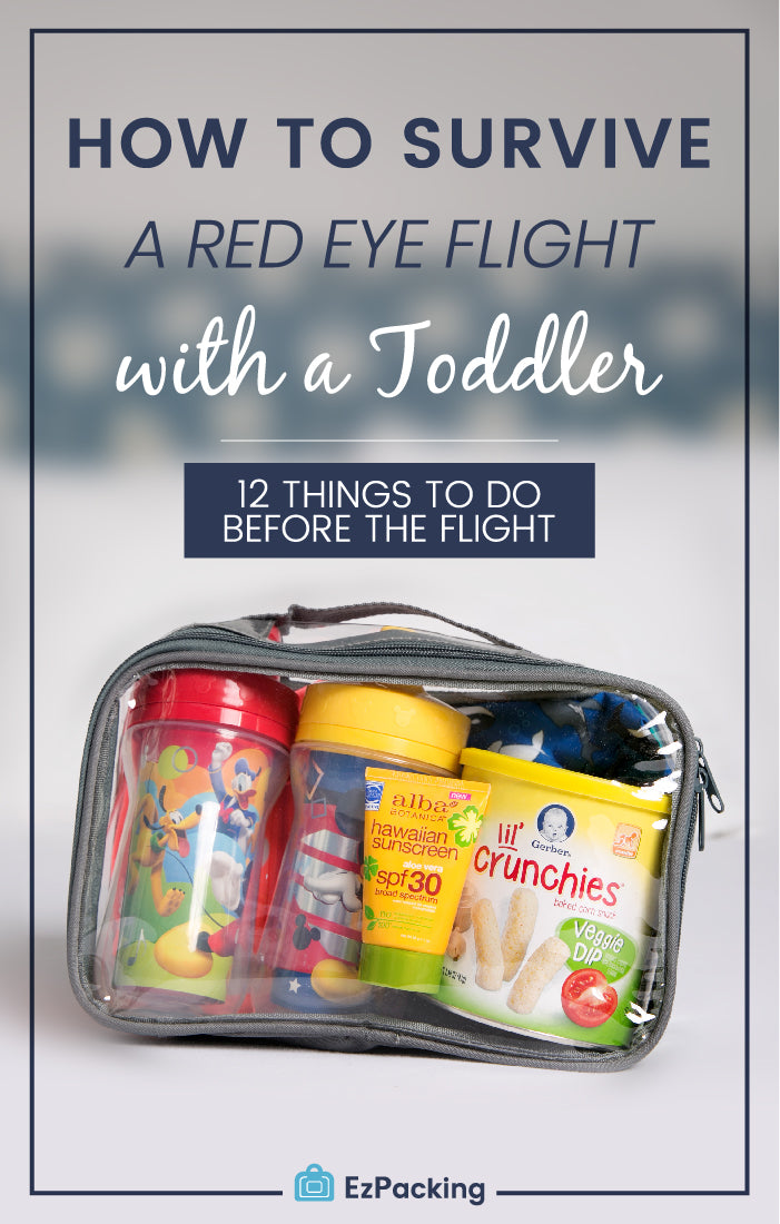 Red eye flight with toddler