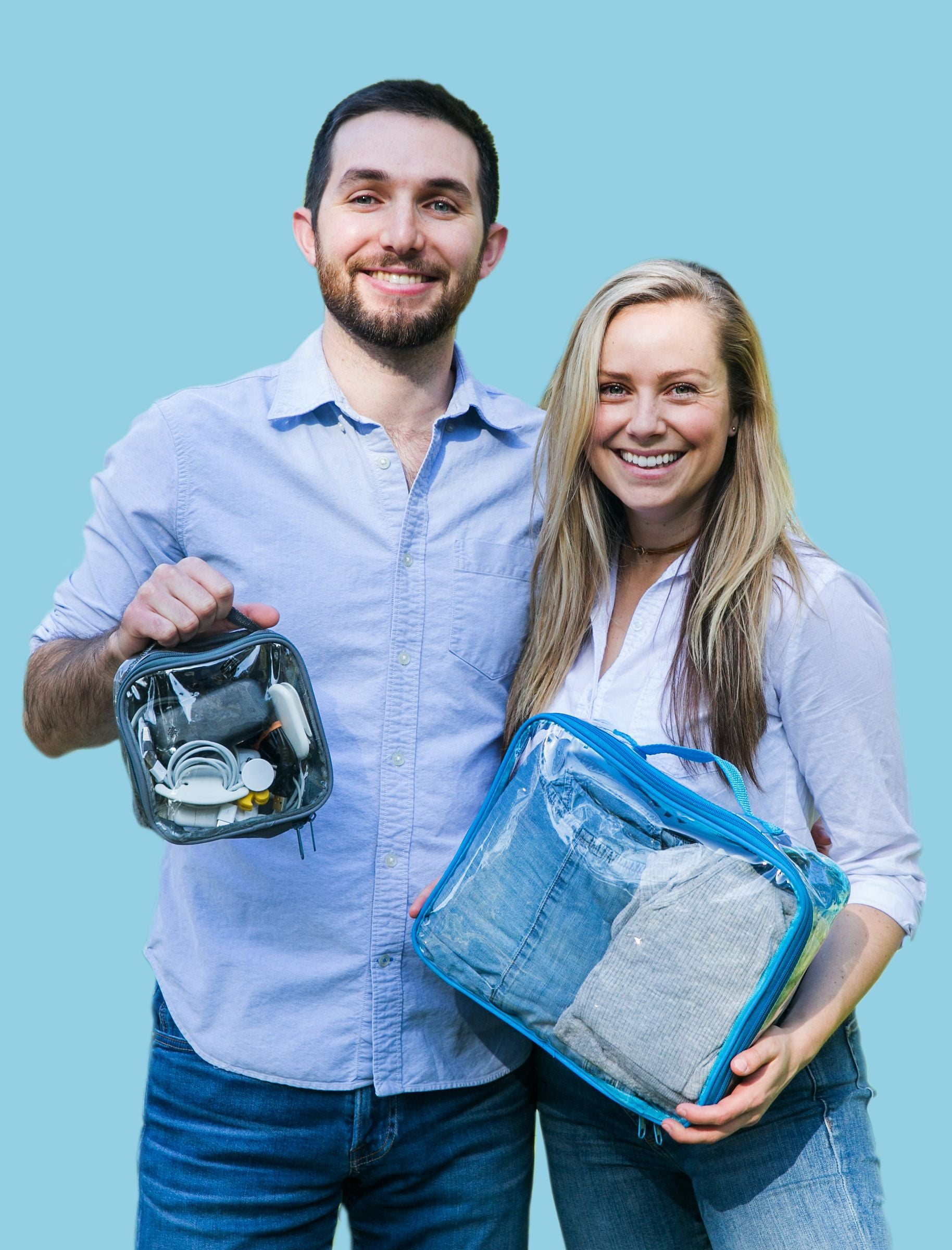 Salo and Tali with EzPacking cubes