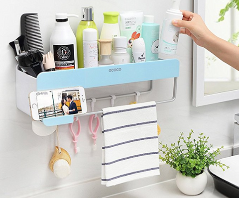 bathroom organizer for small college dorm