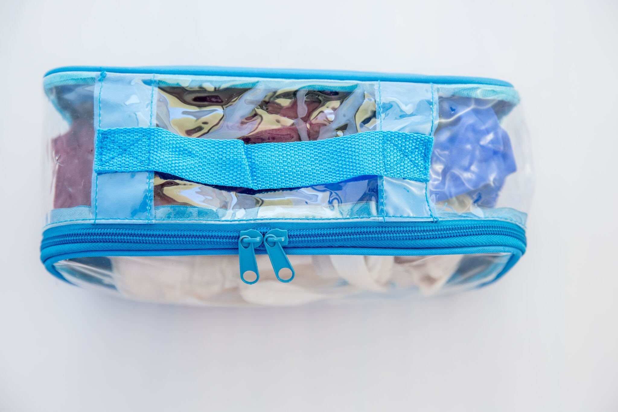 Reusable clear cube for organizing suitcase or bag