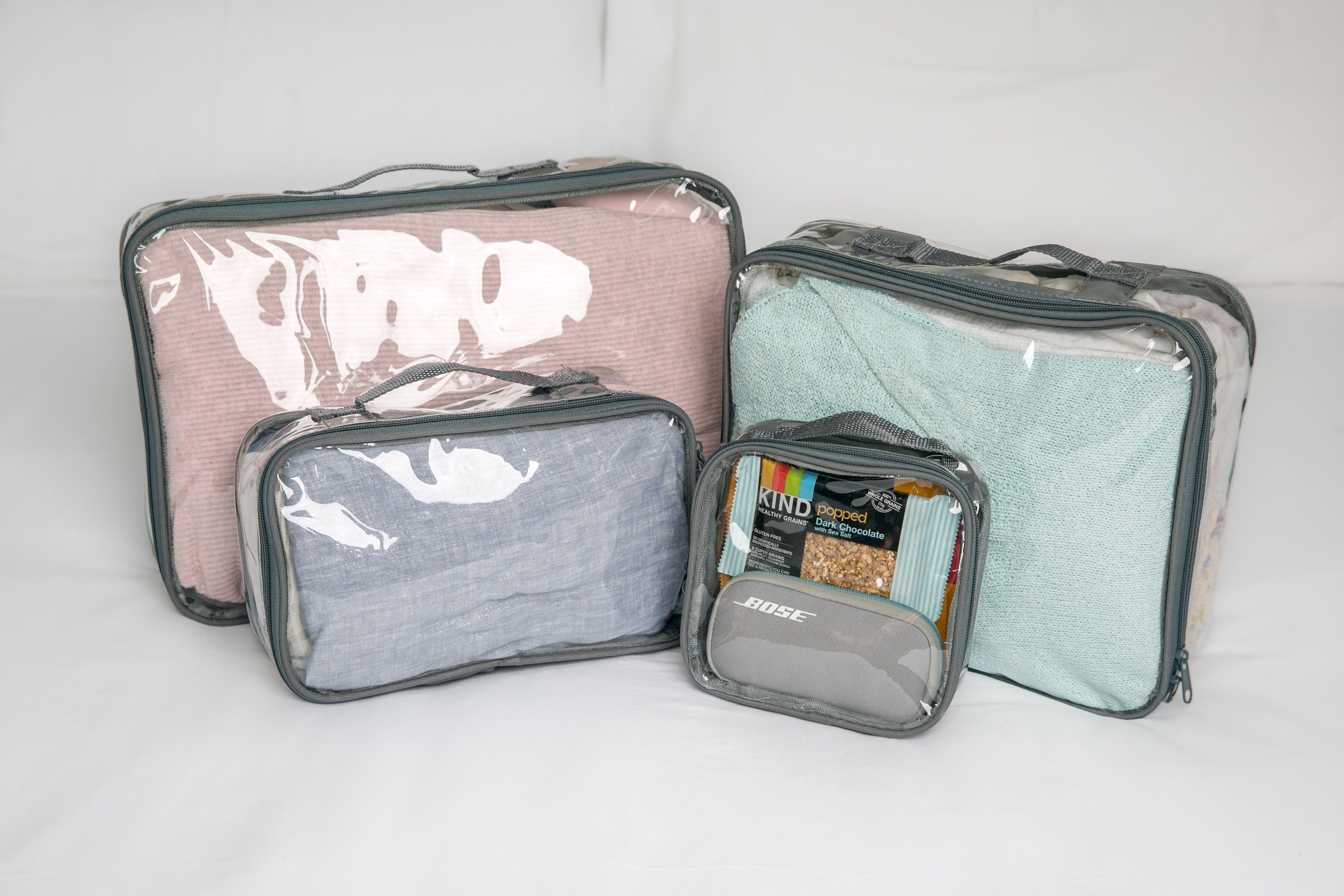 Defining packing cubes and compression bags